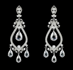 Maryelisabeth - Stunning crystal royal chandelier wedding earrings - SALE
