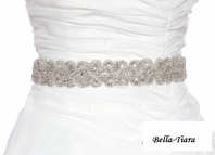 Marylinn - STUNNING high end all around Swarovski crystal wedding sash - SPECIAL