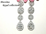 Massima - Royal collection couture CZ wedding bridal earrings - SALE