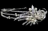 Maura - COUTURE crystal and freshwater pearl headband