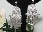 Meadow-Vintage look Bridal Crystal Chandelier Earrings  - SALE!!