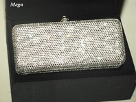 Mega - GORGEOUS Swarovski crystal clutch purse - SALE!!