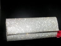 Melanie - New!! ELEGANT Swarovski Crystal clutch evening purse - SPECIAL!!