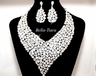 Melina - Crystal statement necklace, bridal necklace, wedding statement necklace, wedding jewelry
