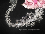 Meredith -  Royal Collection - Swarovski crystal vine wrap headband bridal hair comb - SALE!!