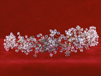Mesmerizing Floral Crystal Headpiece - Edward Berger AMAZING DEAL!!
