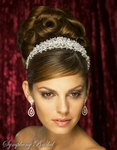 Mesmerizing Swarovski Crystal Headpiece Crown Tiara - sale