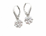Mila - Simple elegance CZ drop earrings - SALE
