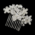 Mimi - Beautiful romantic floral crystal bridal hair comb - SPECIAL