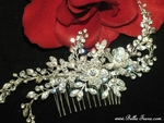 Mirabella - NEW Gorgeous Swarovski crystal vine wedding comb - SPECIAL