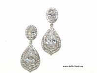 Ariel - Royal CZ drop wedding earrings - SPECIAL
