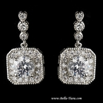 Montauk - Elegant CZ  wedding bridal earrings - SALE