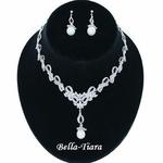 Morgan-New!! Beautiful Victorian CZ Bridal Necklace Set
