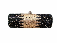 Morissa - Dramatic Swarovski crystal gold and black purse - SALE!!