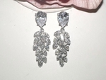 Myrtle - Gorgeous CZ vine couture bridal earrings -  SPECIAL