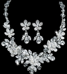 Naima -- Floral Crystals Bridal Jewelry Set - SALE