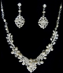 Natale - Beautiful vintage off white freshwater pearl bridal necklace set - SALE