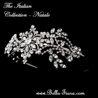 NATALE- Italian Collection- VINTAGE CRYSTAL HEADBAND - SALE!!
