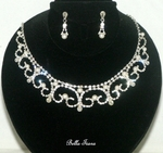 Nella - Romantic royal pearl wedding necklace set - SALE - one left