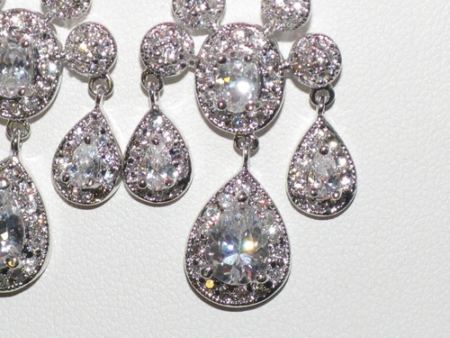 Nella Royal Collection Miss Universe CZ chandelier earrings – Cz Chandelier Earrings