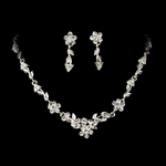 Neva - NEW!! Delicate floral vine Rhinestone necklace set - SALE!!