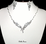 Neve - Romantic beauty CZ vine wedding necklace set - Sale