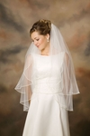 New 2-Tier Soutache Edge Veil