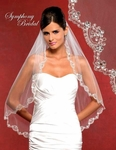 NEW 2012 - Mesmerizing Swarovski crystal edge wedding veil - SALE