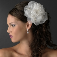 NEW!! Beautiful bold organza flower with crystals - SALE