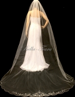 FREE BLUSHER crystal beaded cathedral veil- SPECIAL
