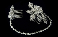 NEW!! Beautiful crystal browband headband