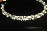 NEW!!! Beautiful elegant swarovski crystal pearl headband - SPECIAL one left