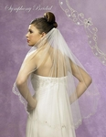 New!! Beautiful Floral beaded Edge Bridal Veil - 5371vl