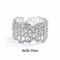 NEW! Beautiful Crystal Cuff wedding Bracelet - BLOWOUT SALE