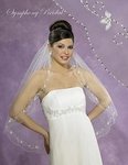 NEW!! Couture Beaded edge bridal veil