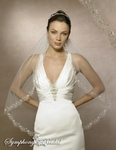 NEW!!! COUTURE CRYSTAL edge bridal veil