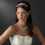 NEW!!  DAZZLING Swarovski crystal set Tiara and Necklace set - SALE!!!