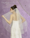 NEW!! DAZZLING Two Tier Crystal Bridal Veil -- 5370VL -- SALE!!