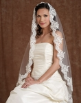 NEW!! Dramatic Mantilla lace edge bridal veil - Edward Berger 4178