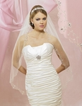 NEW!! Elegant beaded silver bridal veil - 5605VL- SALE!!