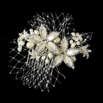 NEW!!! Elegant beauty rum champagne ivory crystal bridal comb - SALE!!!