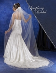 NEW!! Elegant crystal Beaded Edge Cathedral bridal Veil - SALE!!
