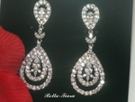 New Elegant dazzling High end CZ drop wedding earrings - SPECIAL one left