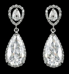 NEW Elegant high end CZ wedding drop earrings - SALE