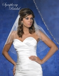 NEW!! Elegant silver beaded edge bridal veil - SALE!!!