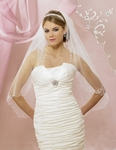 NEW!! ELEGANT vine beaded bridal veil - SALE!! 5608VL