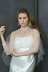 NEW FOR 2014!! Glamorous Beaded Stone veil tulle Shrug