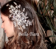 New!! Gorgeous Crystal hair vine with freshwater pearl wedding headpiece - sale