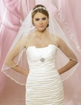 NEW! Gorgeous embroidered and beaded edge bridal veil - 5610