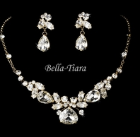 NEW!! GORGEOUS GOLD WEDDING NECKLACE SET - SALE
